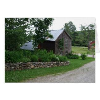 Vermont barn card
