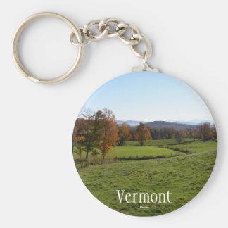 Vermont Basic Round Button Keychain