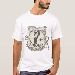 Men's Basic T-Shirt with Vermont Birder design
