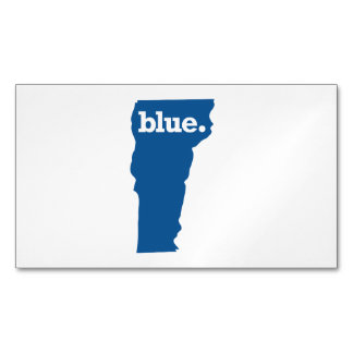 VERMONT BLUE STATE MAGNETIC BUSINESS CARD