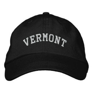 Vermont bordó negro ajustable del casquillo gorra de beisbol bordada