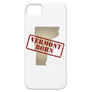 Vermont Born - Stamp on Map iPhone 5 Cases