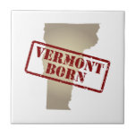 Vermont Born - Stamp on Map Tiles