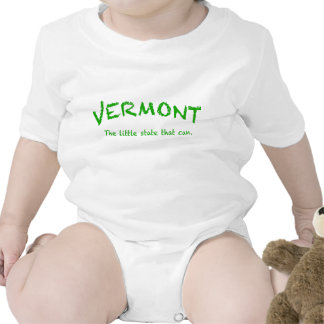 Vermont Can  Infant Creeper, White