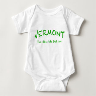 Vermont Can  Infant Creeper, White Baby Bodysuit