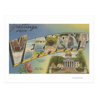 Vermont (Capital del Estado/flor) - Tarjetas Postales