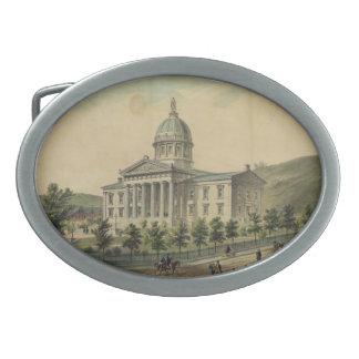 Vermont Capitol Building Montpelier Oval Belt Buckle