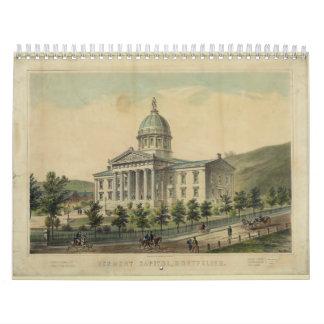 Vermont Capitol Building Montpelier Calendar