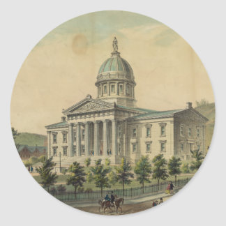 Vermont Capitol Building Montpelier Classic Round Sticker
