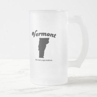Vermont - casamos a lesbianas feas taza cristal mate