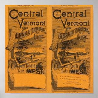 Vermont central, línea interurbana magnífica póster
