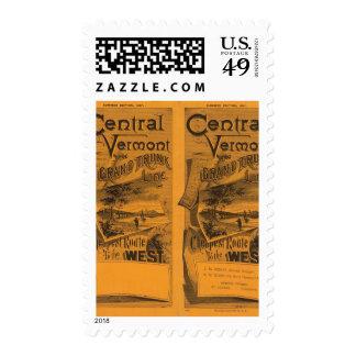 Vermont central, línea interurbana magnífica sello