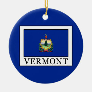 Vermont Ceramic Ornament