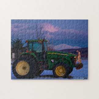 Vermont Christmas Tree as a Tractor Jigsaw Puzzle