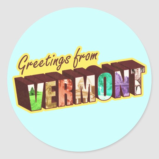Vermont` Classic Round Sticker