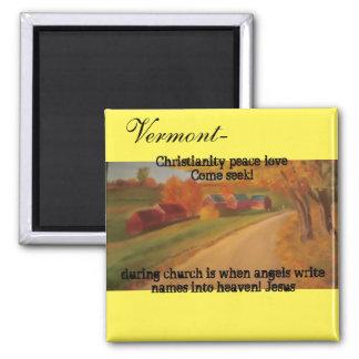 Vermont, come seek! christian magnet