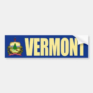 Vermont con la bandera del estado pegatina de parachoque