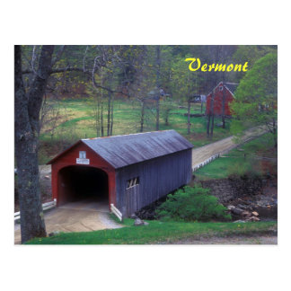Vermont Covered Bridge Guilford Postcard