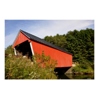 Vermont Covered Bridge-Print Poster