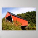 Vermont cubrió la Puente-Impresión Poster