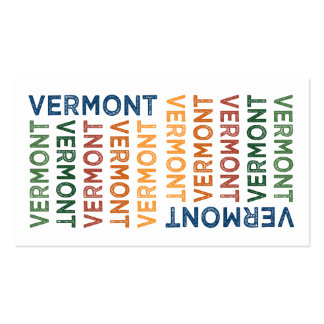 Vermont Cute Colorful Business Card