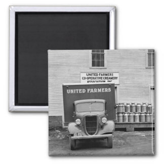 Vermont Dairy Co-op, 1930s 2 Inch Square Magnet