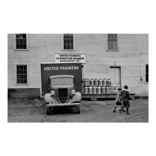 Vermont Dairy Co-op, 1930s Poster