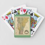 Vermont, de la encuesta real - mapa del vintage 18 barajas de cartas