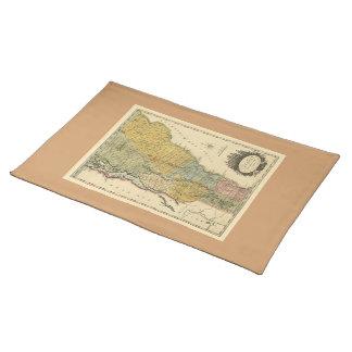 Vermont, de la encuesta real - mapa del vintage manteles