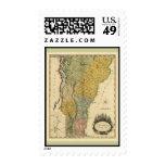 Vermont, de la encuesta real - mapa del vintage envio