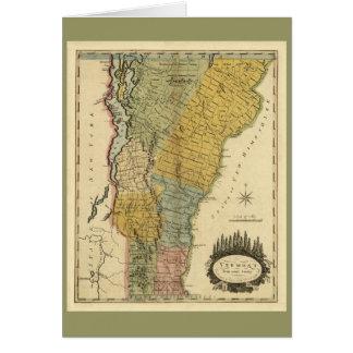Vermont, de la encuesta real - mapa del vintage tarjeta de felicitación