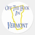 Vermont - del gancho etiqueta redonda