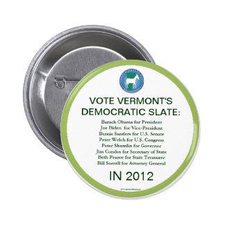 Vermont Democrats in 2012 Pins
