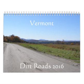 Vermont Dirt Roads 2016 Calendar