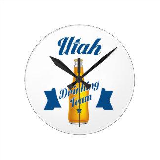 Vermont Drinking team Round Clock