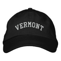 Vermont Embroidered Adjustable Cap Black