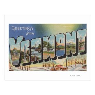 Vermont (escena) del invierno - escenas grandes de tarjetas postales