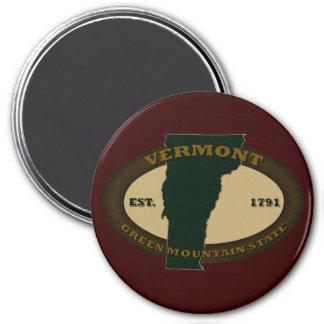 Vermont Est. 1791 3 Inch Round Magnet