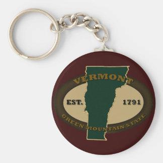 Vermont Est 1791 Basic Round Button Keychain