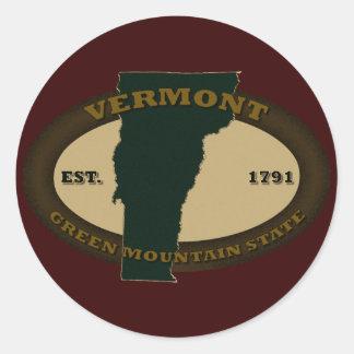 Vermont Est. 1791 Classic Round Sticker