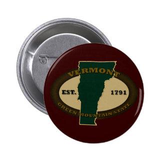 Vermont Est 1791 Pin Redondo 5 Cm