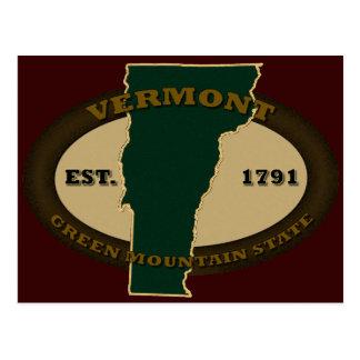 Vermont Est 1791 Postcard