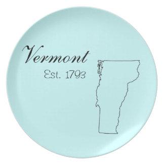 """""""Vermont, Est. 1793"""" placas de la cocina Plato Para Fiesta"""