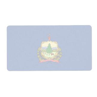 Vermont Faint Flag Shipping Label