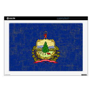 "VERMONT FLAG 17"" LAPTOP DECAL"