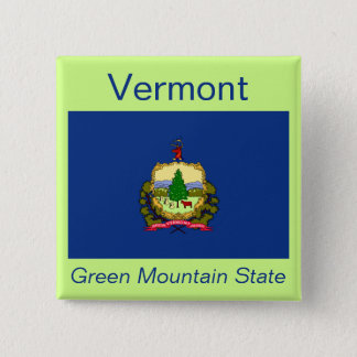 Vermont Flag Button