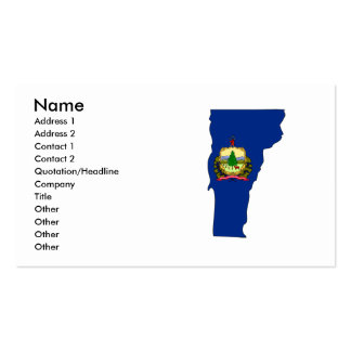 Vermont Flag Map Business Card