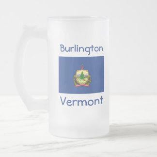 Vermont Flag Map City Mug