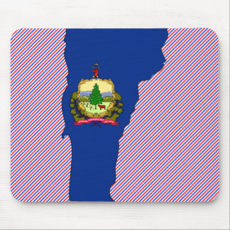 Vermont Flag Map Mouse Pad