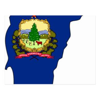 Vermont Flag Map Postcard